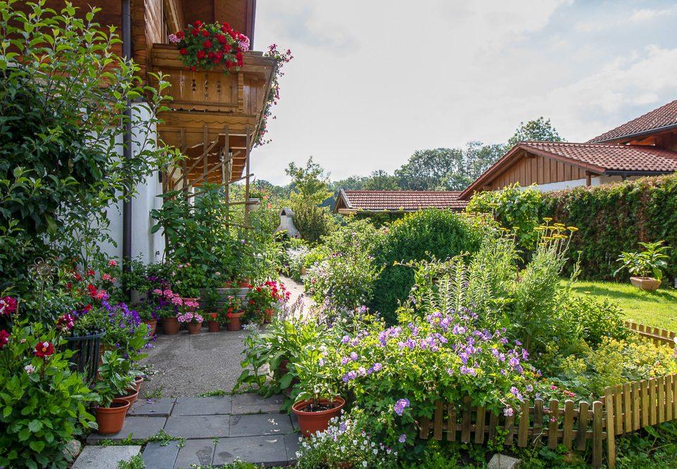 Garten - Ferienwohnung Blumenfeld
